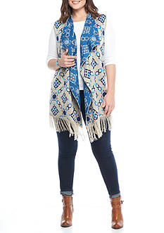 New Directions® Weekend Plus Size Fringe Vest
