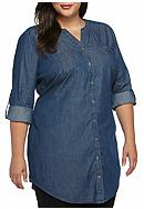 New Directions® Weekend Plus Size Chambray