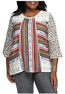 New Directions® Weekend Plus Size Lacey Mixed