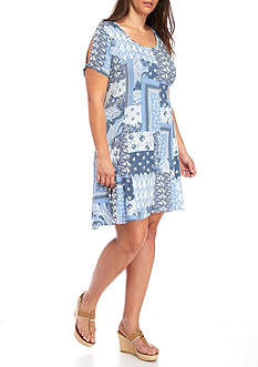 New Directions® Weekend Plus Size Bandana Print Dress
