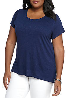 New Directions® Weekend Plus Size Solid Knit Tee