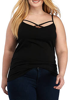 New Directions Weekend Plus Size Crisscross Cami