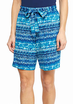 New Directions Tie-Dye Sash Shorts