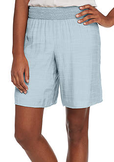 New Directions Solid Crochet Soft Short