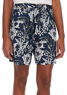 New Directions Floral Printed Soft Shorts