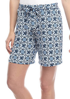 New Directions® Printed Soft Jersey Shorts