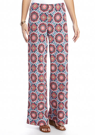 New Directions® Allover Printed Pull-On Palazzo Pant