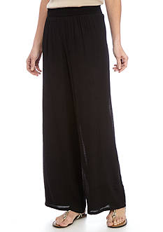 New Directions Gauze Pull-On Crochet Palazzo Pant