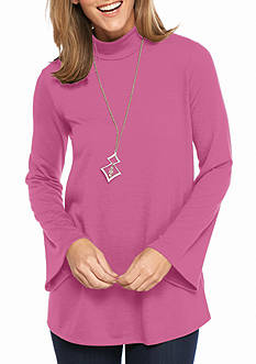 New Directions Mock Neck Swing Top