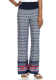 New Directions® Geo Printed Jersey Palazzo Pant