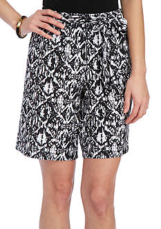 New Directions Printed Shorts