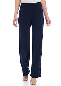 New Directions® Solid Ruched Waist Pants