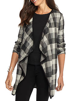 New Directions Plaid Printed Cozy
