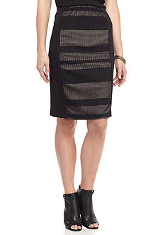 New Directions Bonded Lace Skirt