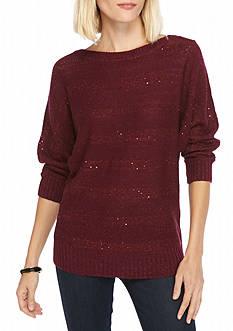 New Directions Metallic Sequin Sweater