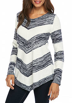New Directions Marled Stripe Sweater