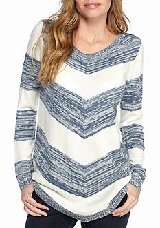 New Directions Mitered Stripe Sweater