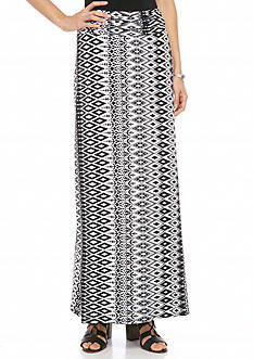 New Directions Printed Knit Skirt