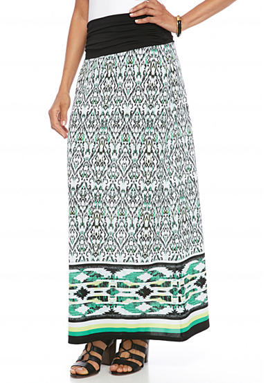 New Directions® Printed Knit Skirt