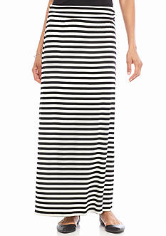 New Directions Stripe Maxi Skirt
