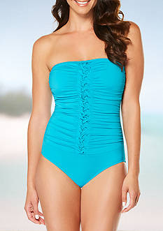 Jantzen Signature Pin-Tucked Bandeau One Piece