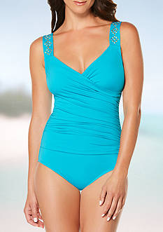 Jantzen Novelty Shoulder Draped Over The Shoulder One Piece