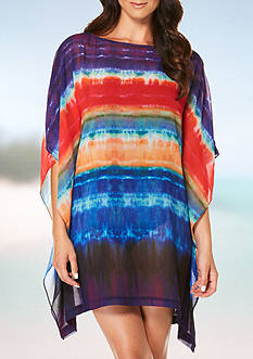 Jantzen Tequila Sunrise Caftan Swim Cover Up