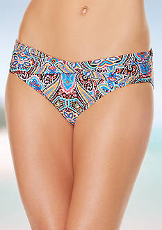 Jantzen Vibrant Paisley Twist Band Hipster Swim Bottom