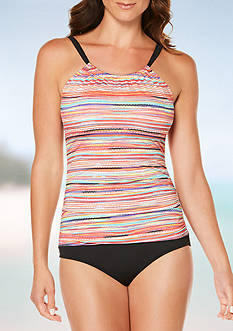 Jantzen Mayan Reef Hi-Neck One Piece Swimsuit