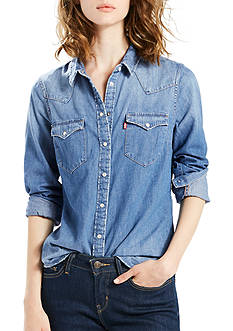 Levi's® Tailored Classic Western Love Blue Shirt