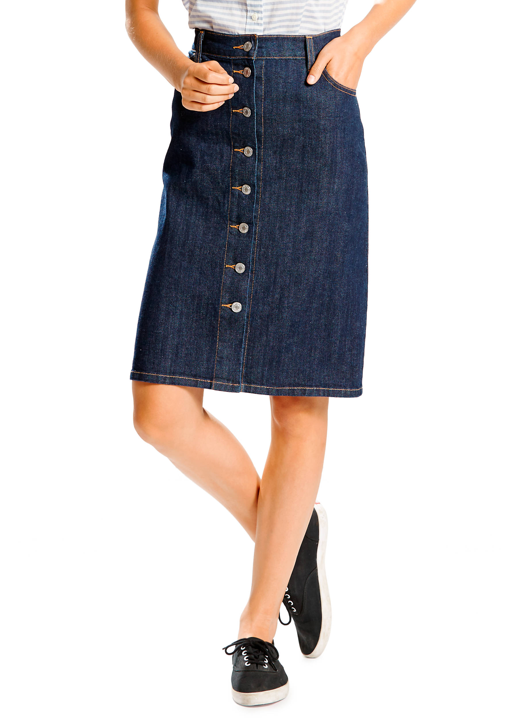 Levi's® Button Down Pencil Skirt | belk