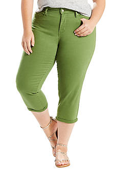 Levi's Plus Size Shaping Twill Capri