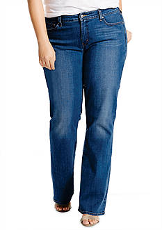 Levi's Plus Size 415 Relaxed Bootcut Blue Sun Jean