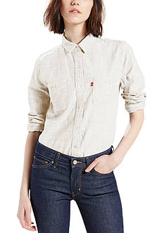 Levi's Boyfriend Workwear Shirt Cloud Dancer