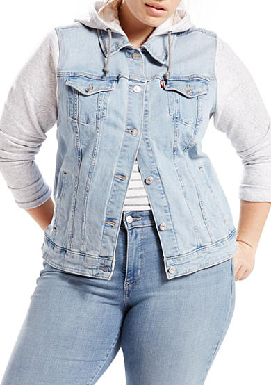 Levi's® Plus Size Classic Trucker Cape Cod Jacket