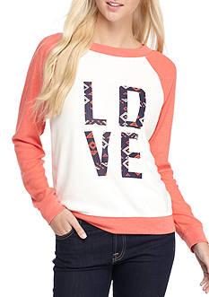 Derek Heart Graphic Raglan Pullover