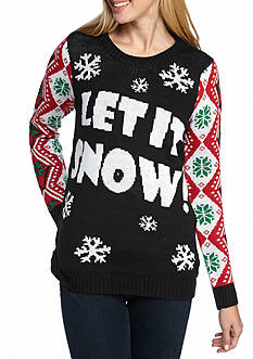 Derek Heart Let It Snow Xmas Sweater