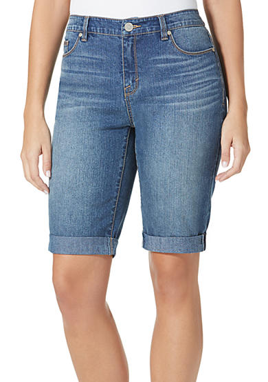 Bandolino Riley Denim Bermuda Shorts