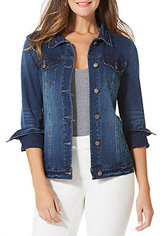 Bandolino Sarah Jacket Knit Denim Jacket