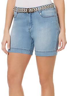 Bandolino Amalia Belted Denim Shorts