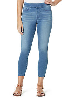Bandolino Thea Pull-On Legging Denim Crop Pants