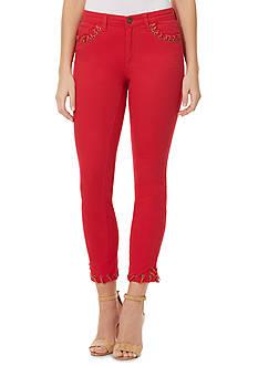 Bandolino Selene Skinny Crop Lace Pants