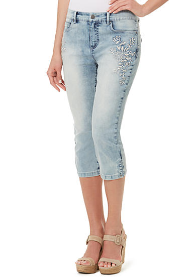 Bandolino Mandie Piping Denim Capri