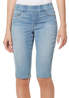 Bandolino Thea Skimmer Pull On Denim Bermuda Shorts