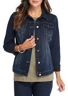 Bandolino Button Front Jean Jacket