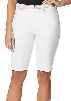 Bandolino Petite Size Mandie Belted Bermuda Shorts