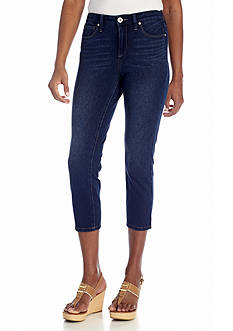 Bandolino Selene Knit-To-Fit Denim Capri