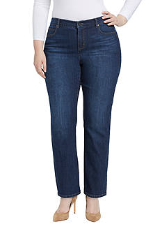 Bandolino Plus Size Mandie Greenwich Jean (Short & Average)
