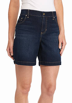 Bandolino Embellished Mandie Perfect Fit Jean Shorts