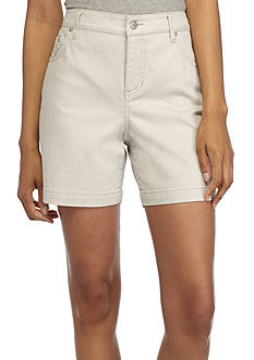 Bandolino Embellished Mandie Perfect Fit Twill Shorts
